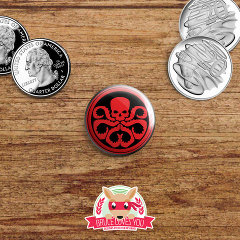 Agents of SHIELD inspired buttons - pinback or magnets