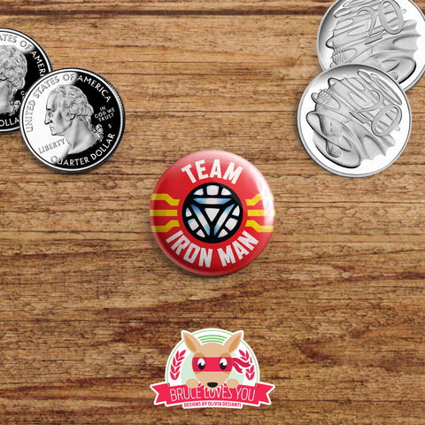 Avengers Civil War inspired buttons - pinback or magnets