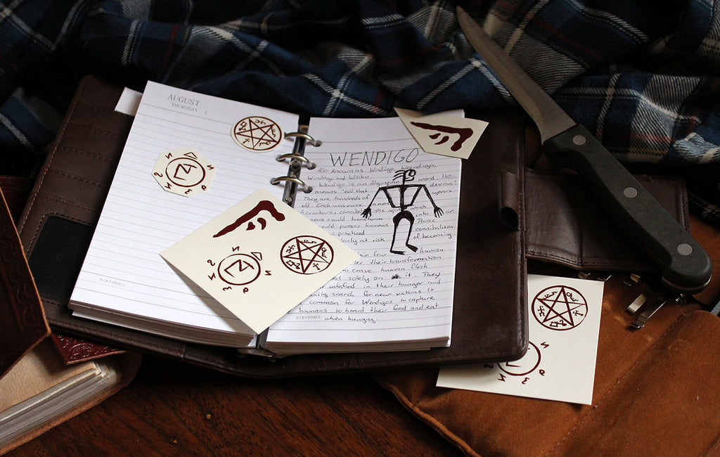Supernatural Symbols Temporary Tattoos Bruce Loves You