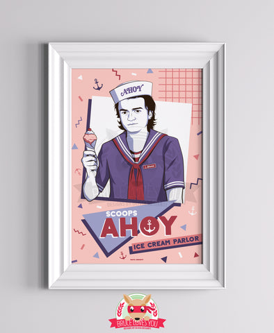 Scoops Ahoy - Stranger Things inspired Print