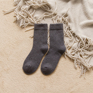 Dark grey rabbit hair and wool blend socks