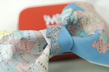 Modern map printed bow tie