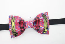 Abstract mini dots printed bow tie