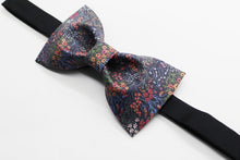 Mini floral black bow tie