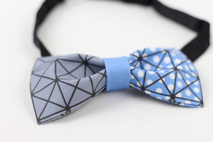 Diamonds and dots cubism bow tie