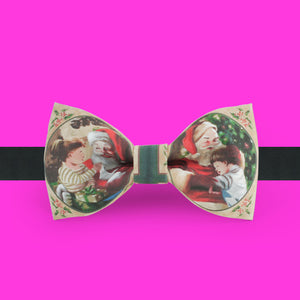 Vintage styled Christmas bow tie