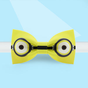 Minions printed yellow bow tie