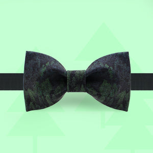 Black forest print bow tie
