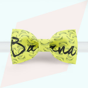 Banana printed fun bow tie