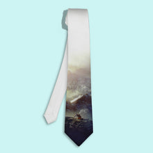 Mountains printed novelty necktie