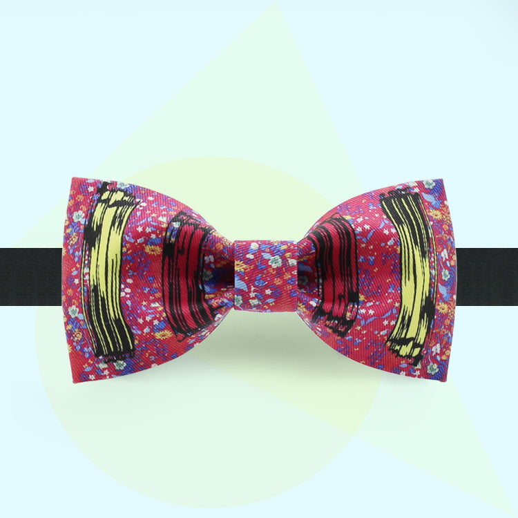 Abstract mini dots printed bow tie for holiday