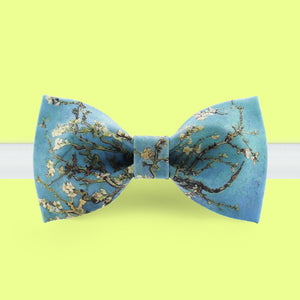 Almond Blossoms of Van Gogh printed bow tie