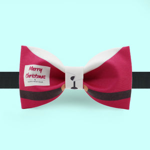 Christmas bow tie with Santa Claus print