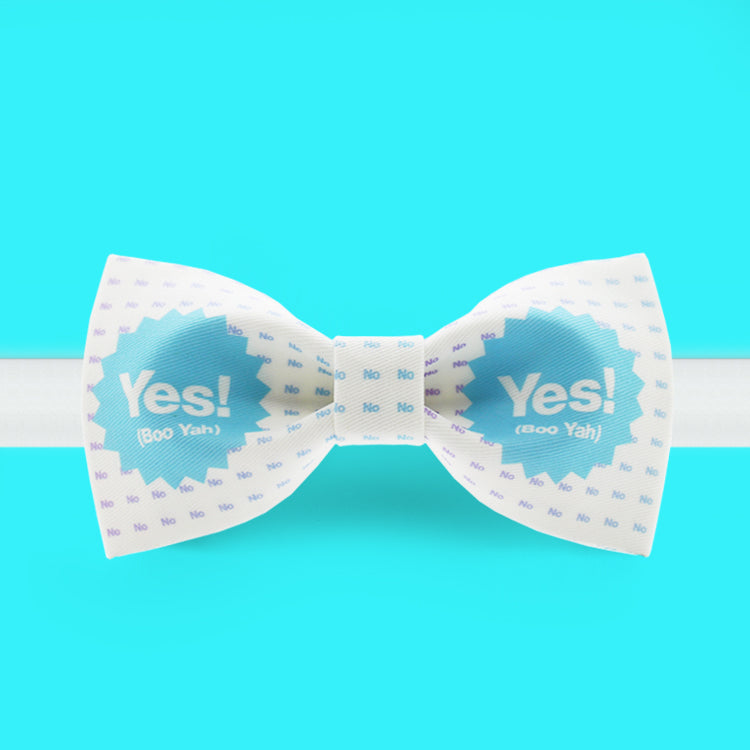 Yes! sky blue and white bow tie