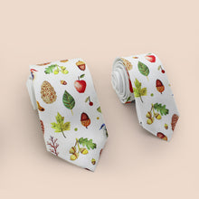 Fresh fruits printed necktie