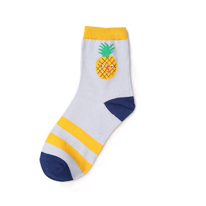 Pineapple patterned novelty ankle socks