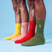 Green avocado crew socks for men and women