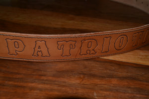 Leather Support Patriotism 16 Belt
