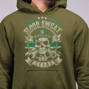 Blood Sweat and Gears Support 16 Hoodie