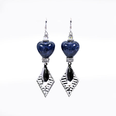 Sara Yo Blue Fire Earrings (Item# 739)