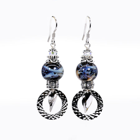 Blue Universe Protection Earrings (Item# 741)
