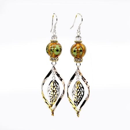 Sara Yo Forest Ball Earrings (Item #748) for spiritual protection.