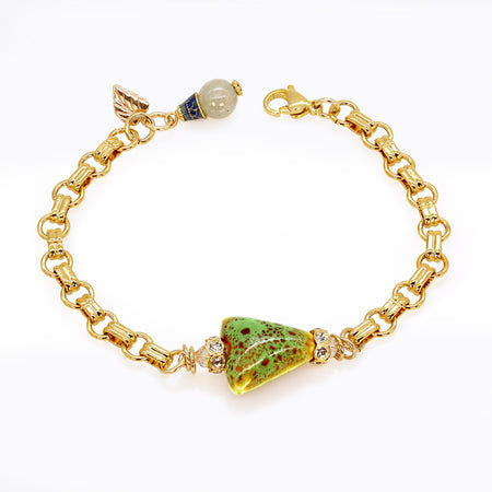 Green Earth Gold Bracelet (Item #783)