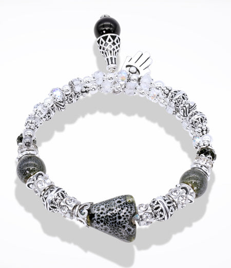 Sara Yo Earth Energy Bracelet - Falling Snow Bracelet (Item#809)