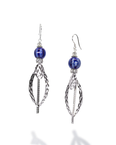 Sara Yo Blue Protection Earrings provide spiritual protection