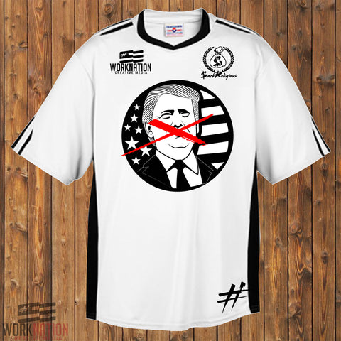 X Out Trump Soccer Jersey