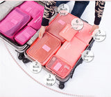 Travelling bag in bag organizer 6 in 1
