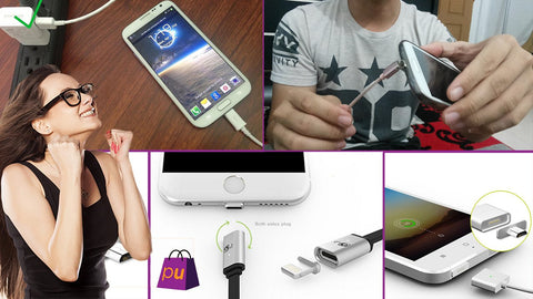 Magnetic Kabel Charger Untuk Iphone & Android