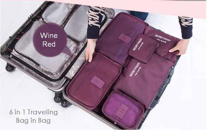 6in1 Traveling Bag Organizer