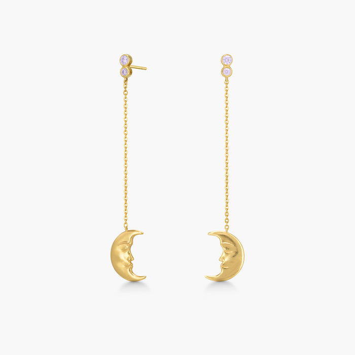 Polar jewelry hanging moon earrings tarot collection gift jewellery gold mystical love present for women best jewelry brand denmark scandinavian minimal playful diamond necklace bracelet gold chain gemstones jewelers pearl wedding engagement promise charm cz stores pendant