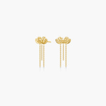 Load image into Gallery viewer, Polar Jewelry Chrysanthemum flower earrings gold shop affordable fine jewelry gift for women jewellery joyful fun colourful scandinavian danish design gold