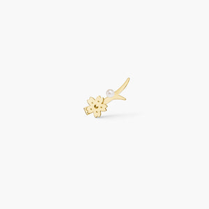 polar jewelry sakura cherry blossom flower ear crawler climber earrings gold pearl gift jewellery Polar Jewelry shop affordable fine jewelry gift for women jewellery joyful fun colourful scandinavian danish design shop now free delivery