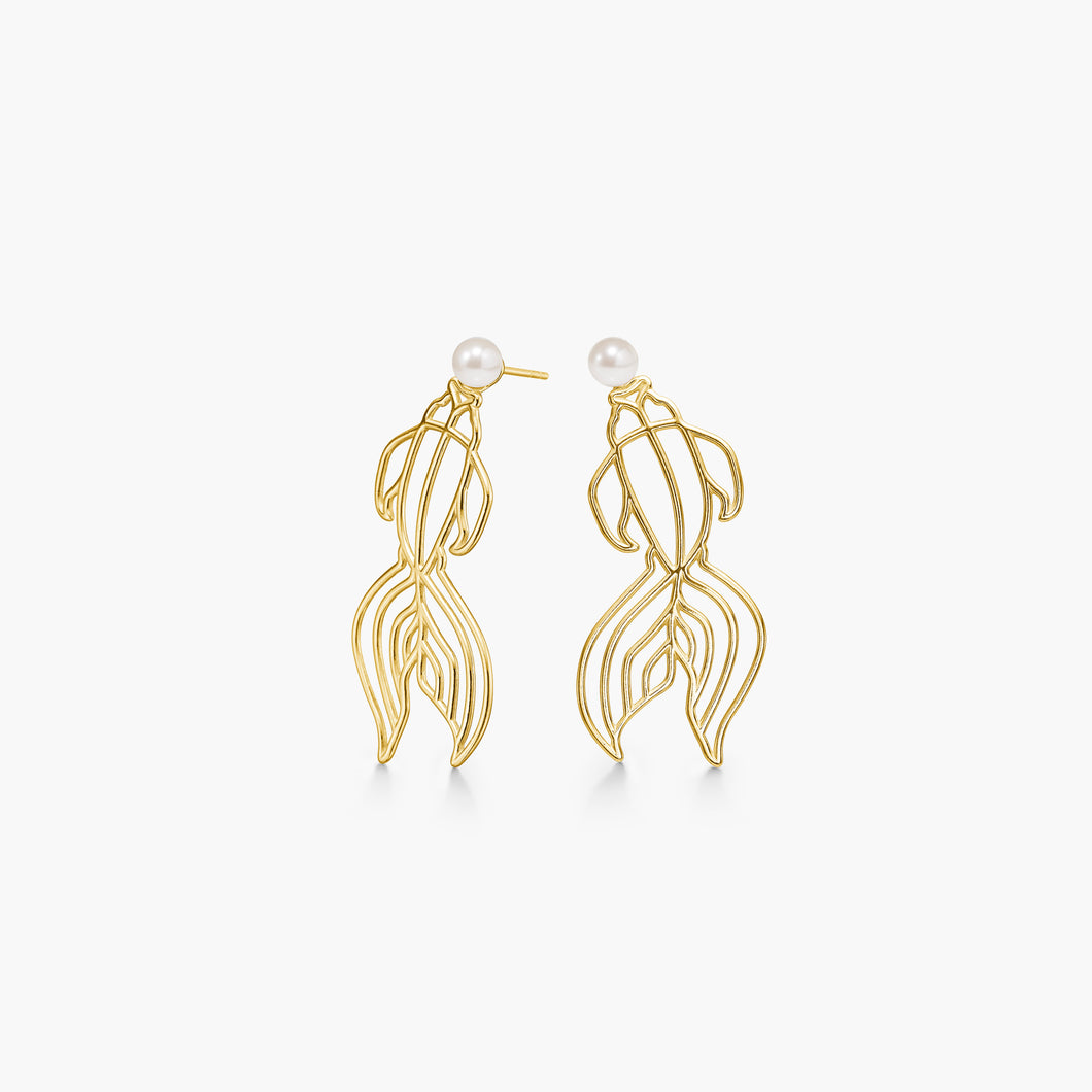 Polar jewelry koi earrings gold shop affordable fine jewelry gift for women jewellery joyful fun colourful scandinavian danish design