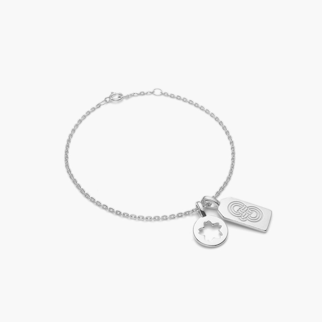polar jewelry omamori sakura bracelet silver Polar Jewelry shop affordable fine jewelry gift for women jewellery joyful fun colourful scandinavian danish design shop now free delivery good luck