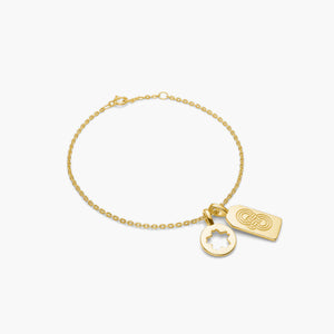 polar jewelry omamori sakura bracelet gold Polar Jewelry shop affordable fine jewelry gift for women jewellery joyful fun colourful scandinavian danish design shop now free delivery good luck