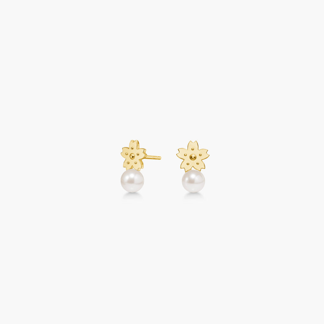 polar jewelry sakura cherry blossom flower earrings pearl gold gift jewellery Polar Jewelry shop affordable fine jewelry gift for women jewellery joyful fun colourful scandinavian danish design shop now free delivery