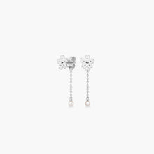 polar jewelry sakura cherry blossom flower backdrop earrings pearl silver Polar Jewelry shop affordable fine jewelry gift for women jewellery joyful fun colourful scandinavian danish design shop now free delivery