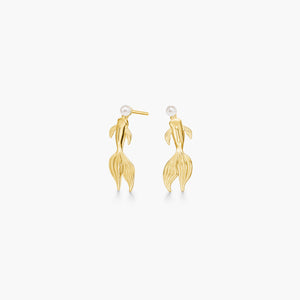 polar jewelry koi carp fish earrings gold pearl gift jewellery Polar Jewelry shop affordable fine jewelry gift for women jewellery joyful fun colourful scandinavian danish design shop now free delivery