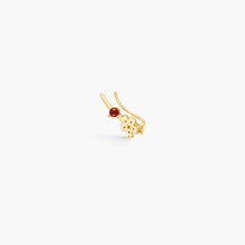 Load image into Gallery viewer, polar jewelry sakura cherry blossom flower ear crawler climber earrings coral gold gift jewellery Polar Jewelry shop affordable fine jewelry gift for women jewellery joyful fun colourful scandinavian danish design shop now free delivery