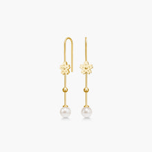 Load image into Gallery viewer, Polar Jewelry Sakura cherry blossom flower Hanging Peal earring Polar Jewelry shop affordable fine jewelry gift for women jewellery joyful fun colourful scandinavian danish design shop now free delivery