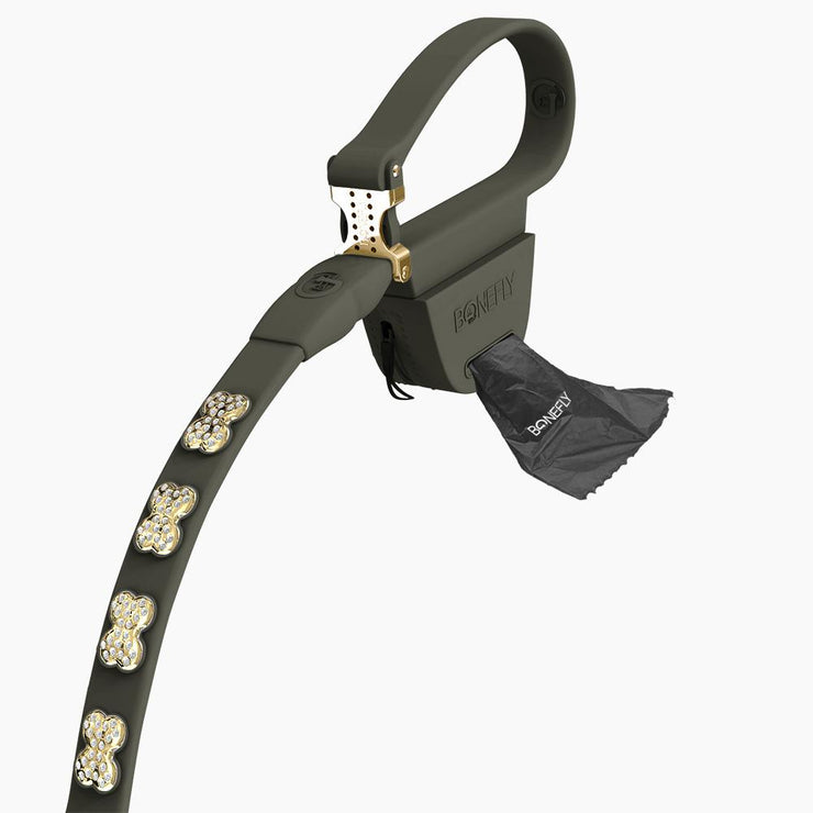 Graphite Swarovski Leash