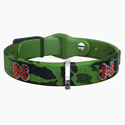 Camo Green Swarovski Collar