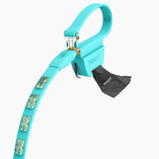Teal Swarovski Leash