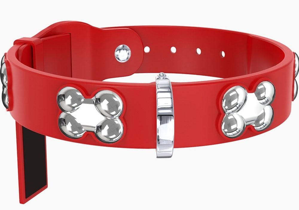 SILVER BONE COLLARS - 8 COLORS