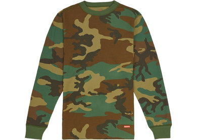 Supreme x Hanes - Thermal Crewneck (FW19) - Green Camo