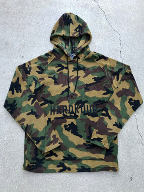 Hardkour Performance - Camo Print Polar Fleece Hoodie